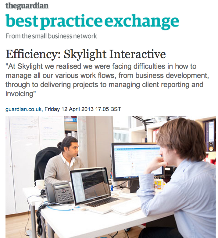 Guardian NEWS on Skylight and Efficiency - 1